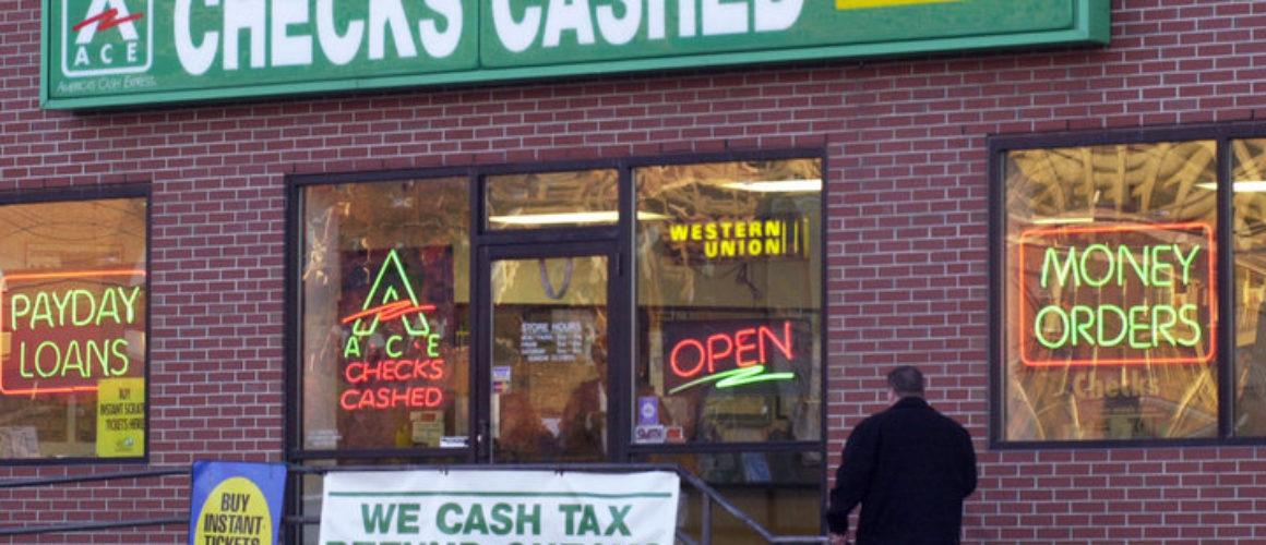 Ace America's Cash Express check-cashing service, 312 St. John St., Portland.