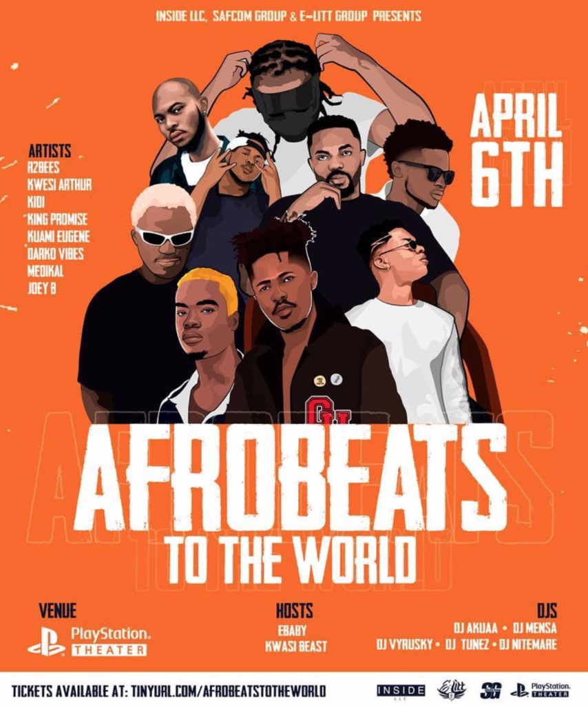 R2Bees, Medikal, Darko Vibes, King Promise others storm USA