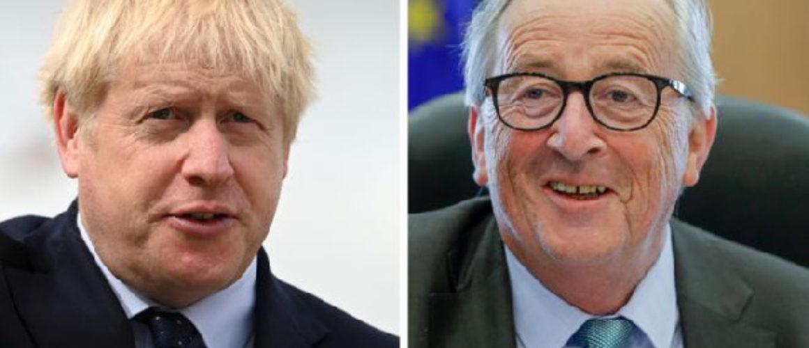 Boris Johnson and Jean-Claude Juncker